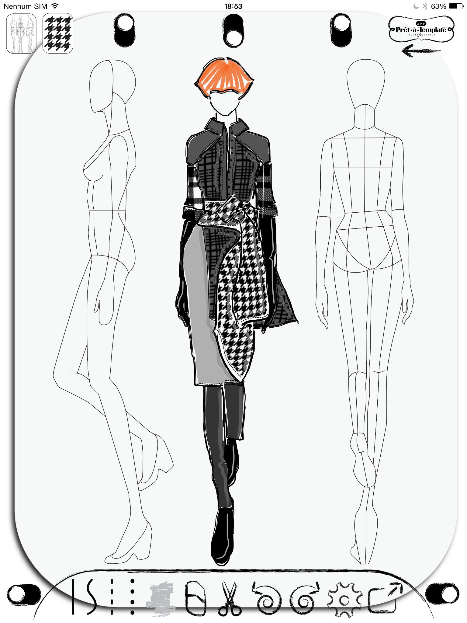 Fashion Sketch App Pret A Template Etatemplate