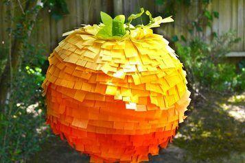 How to Make an Ombre Pumpkin Pinata