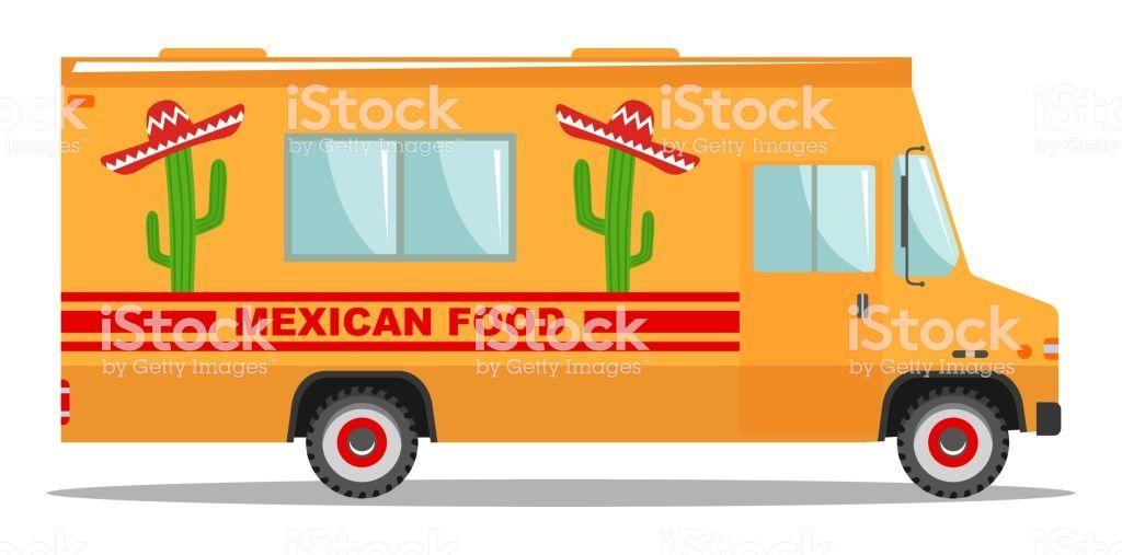 Cartoon Food Truck Ice Cream With Images Food Truck Cartoon