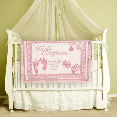 Personalized baby blanket birth certificate embroidered gift personalized baby blanket birth makes a wonderful new baby and baby shower gift original design by lil inspirations negle Image collections