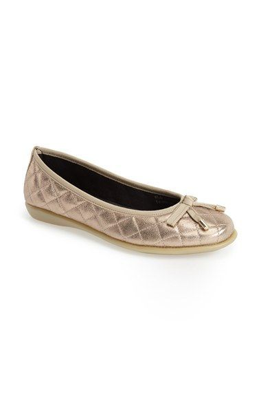 THE FLEXX 'Bon Gout' Quilted Skimmer Flat (Women) available at #Nordstrom