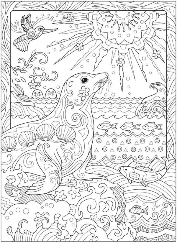 6 Sea Life Coloring Pages | Beach coloring pages, Animal ...