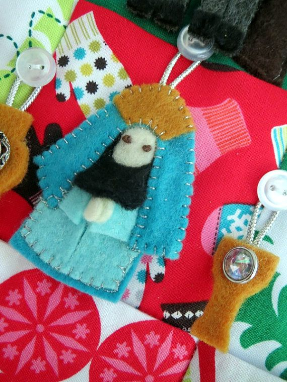 Owl Nativity Advent Calendar by sewsuecatlettsew on Etsy