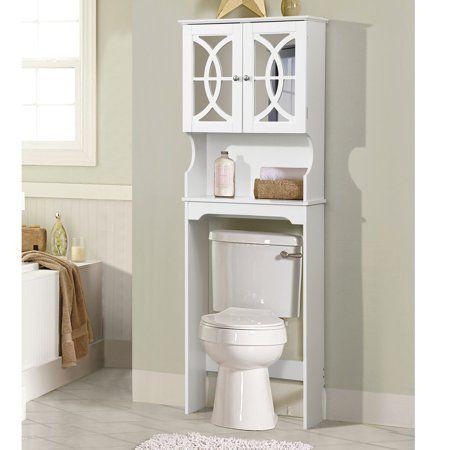 home source emmanuel white mirrored door bathroom space saver in rh pinterest com