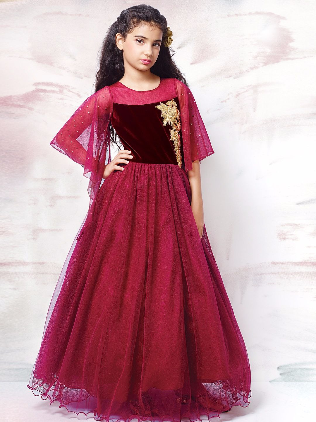 e49eb346ce5 Shop G3 Exclusive net party wear designer maroon gown online from G3fashion  India. Brand - G3