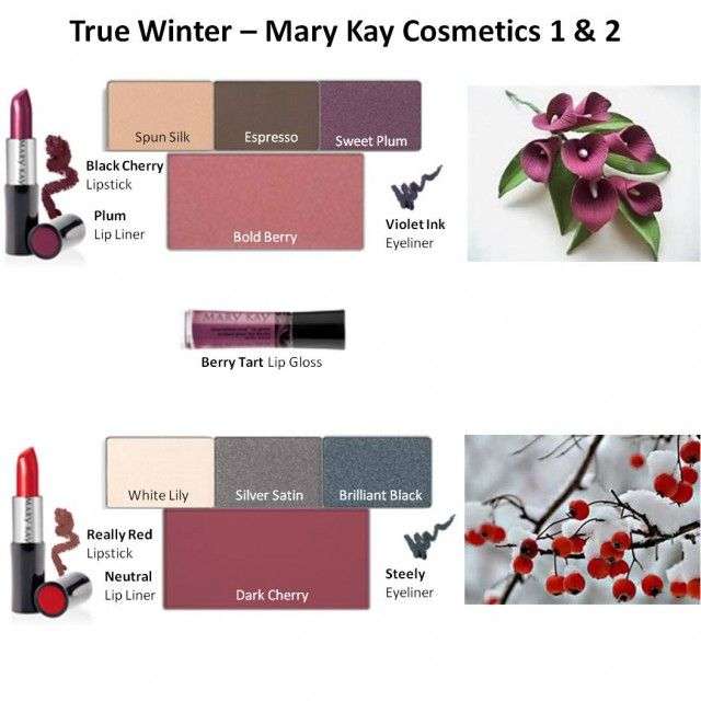 Mary Kay Colors for True Winter #1 & #2 www.marykay.com/… Call or text 386-303-2400 or 832-823-1123