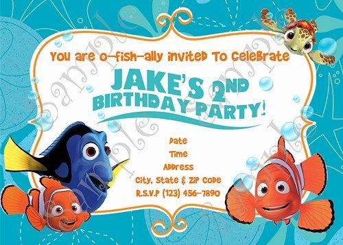 Finding Nemo Invitation Birthday Thank You Card