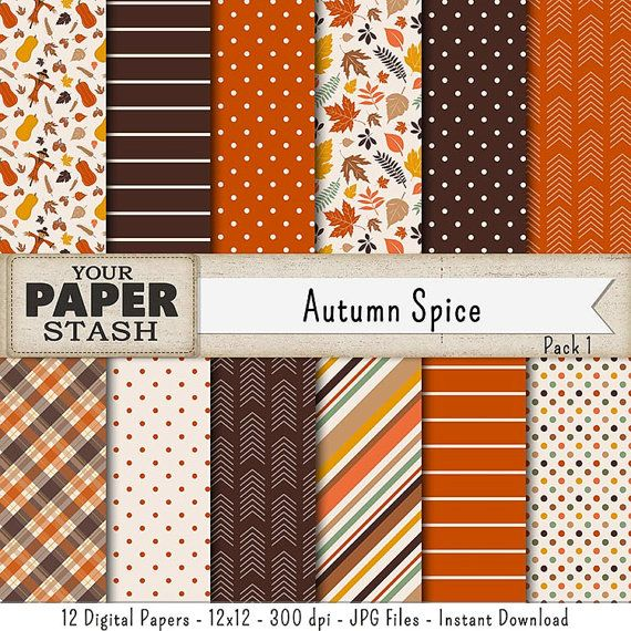 Warm Autumn Digital Papers Fall Scrapbook Papers Thanksgiving Backgrounds Autumn Leaves Digital Paper Halloween Designs With Images Digital Paper Fall Scrapbook Scrapbook Paper