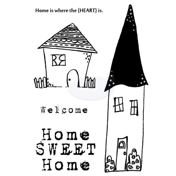 Home Sweet Home A6 Clear Stamp Set
