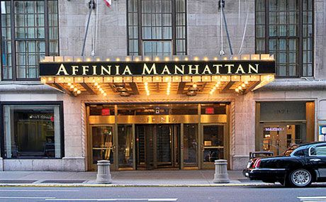 Affinia Manhattan Hotel is across the street from Madison Square