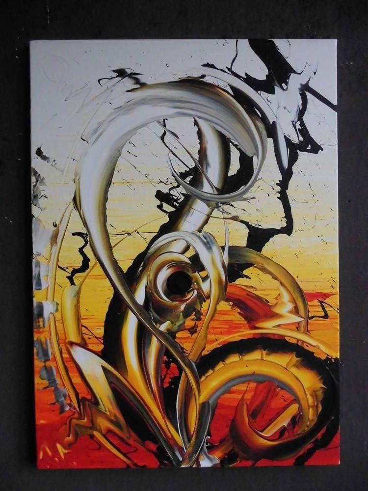 Bild Abstrakt Acryl Bilder Modern Gem Lde Kunst Original Deko Wandbild