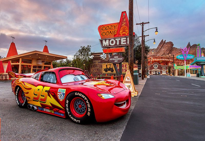 Lightning Mcqueen Watches The Sunrise Over Cars Land With Images