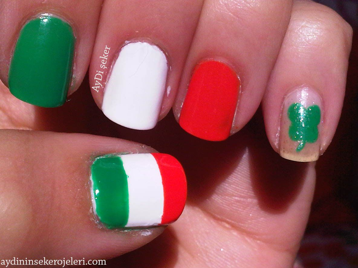 31 Day Nail art challenge Day 28: Inspired by a flag (Irish flag ...