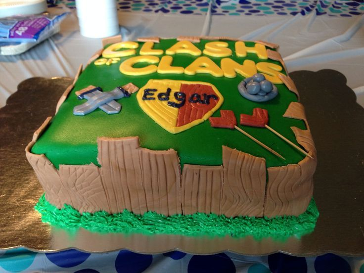 Cake Design Coc : clash of clans cake Joel Pinterest Cake, Birthdays ...