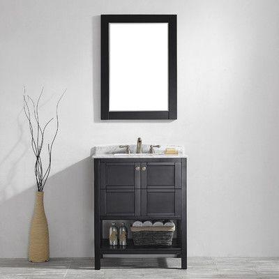 "Vinnova Florence 30"" Single Vanity Set with Mirror & Reviews | Wayfair"