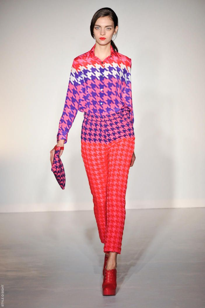 house of holland. there's a lot of great prints in LFW