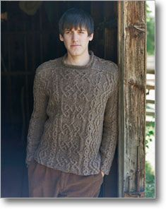 Wish List - This knitted Aran sweater uses Celtic inspiration through it's intricate cable pattern.
