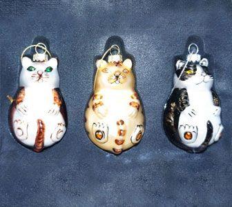 Christbaumschmuck Katze 3 Teilig Ornament