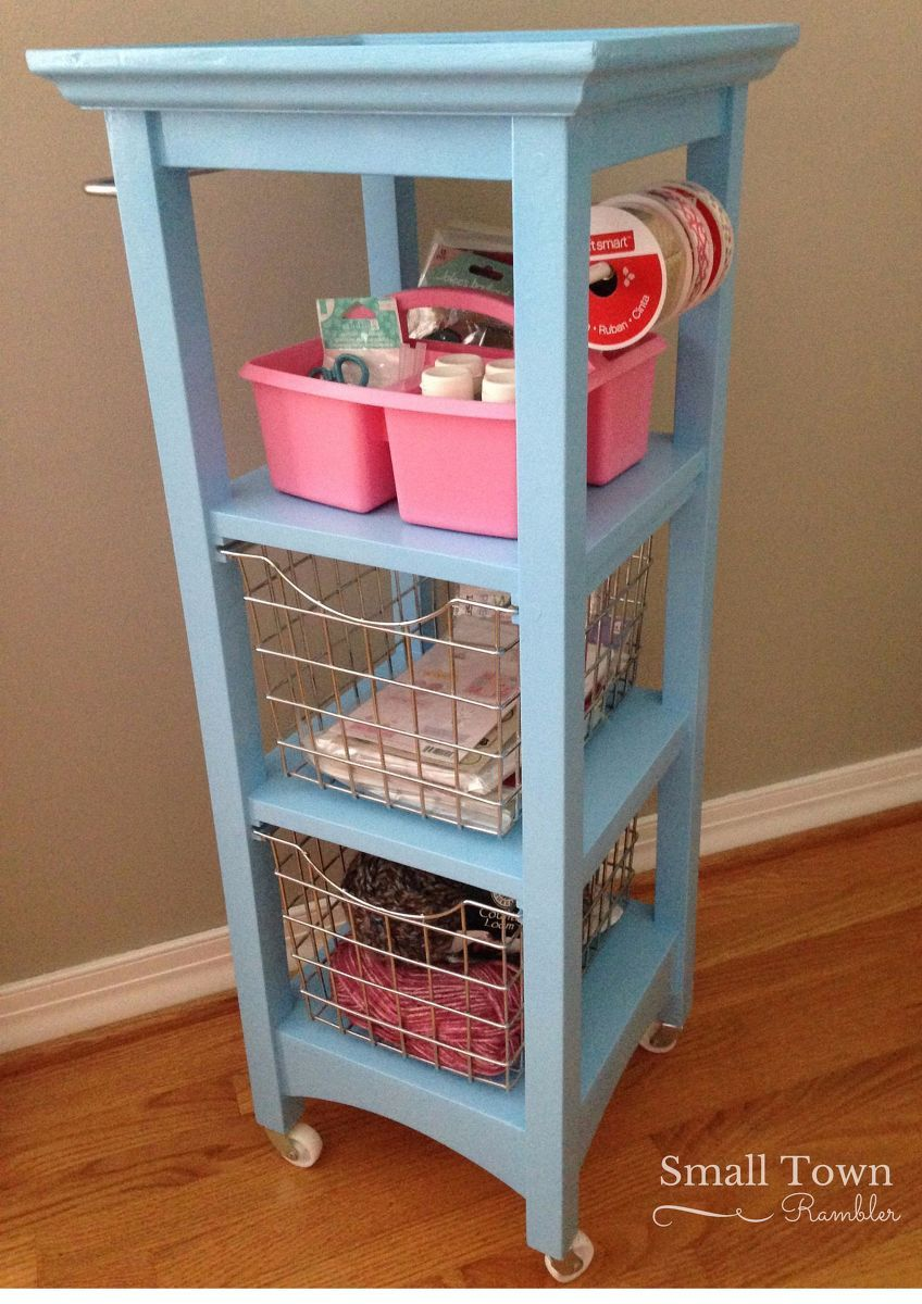 Bathroom Storage Tower Repurposed Into A Craft Cart E