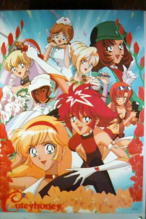 Cutie Honey Anime Poster 2 Magical Girl Old Anime Anime
