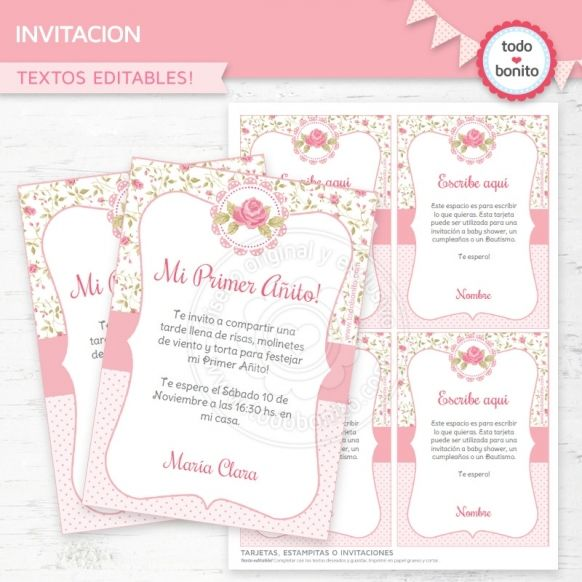 Tarjetas De Invitacion De 15 Años Para Editar E Imprimir