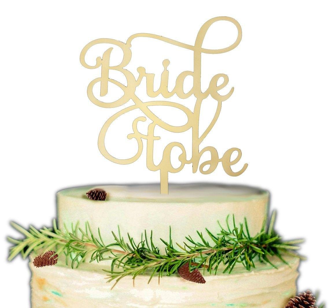Bride to be cake topper bridal shower wedding engagement