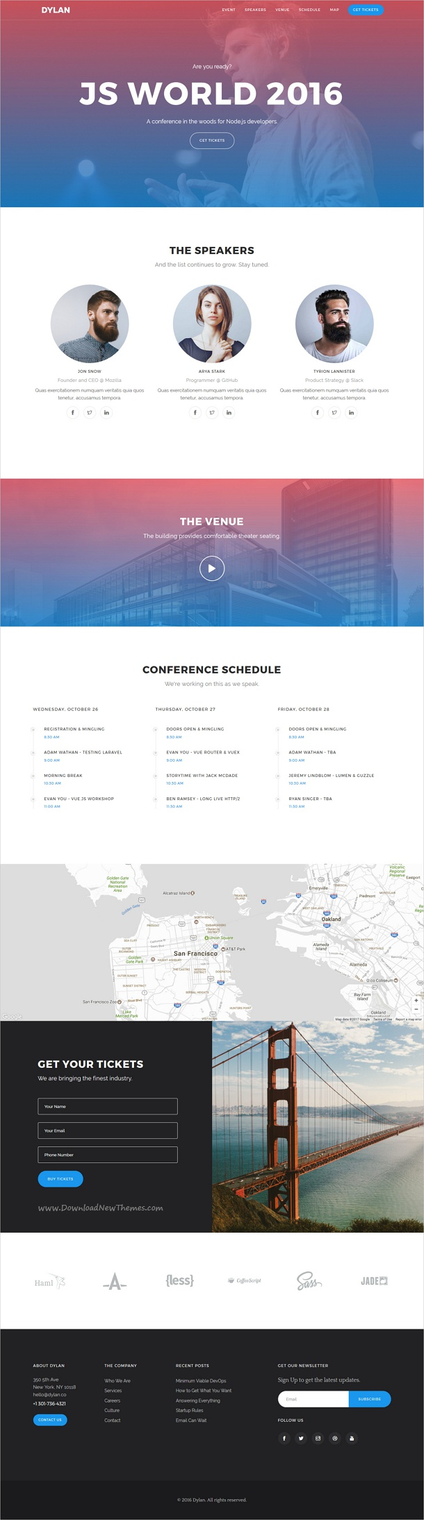 schedule website template