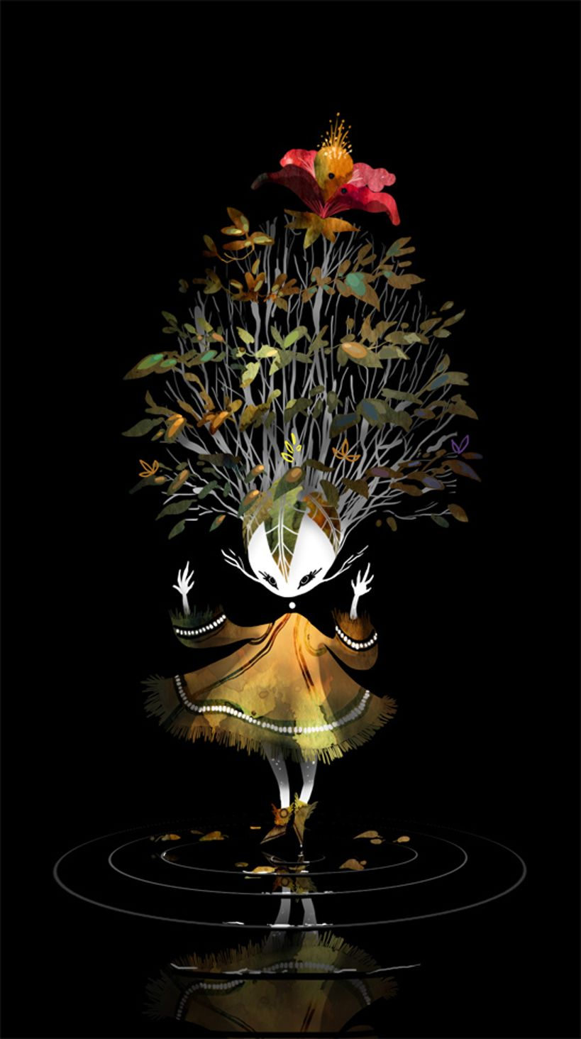 Reminds me of something from the Disney's Alice in Wonderland. The Art Of Animation, Camille André