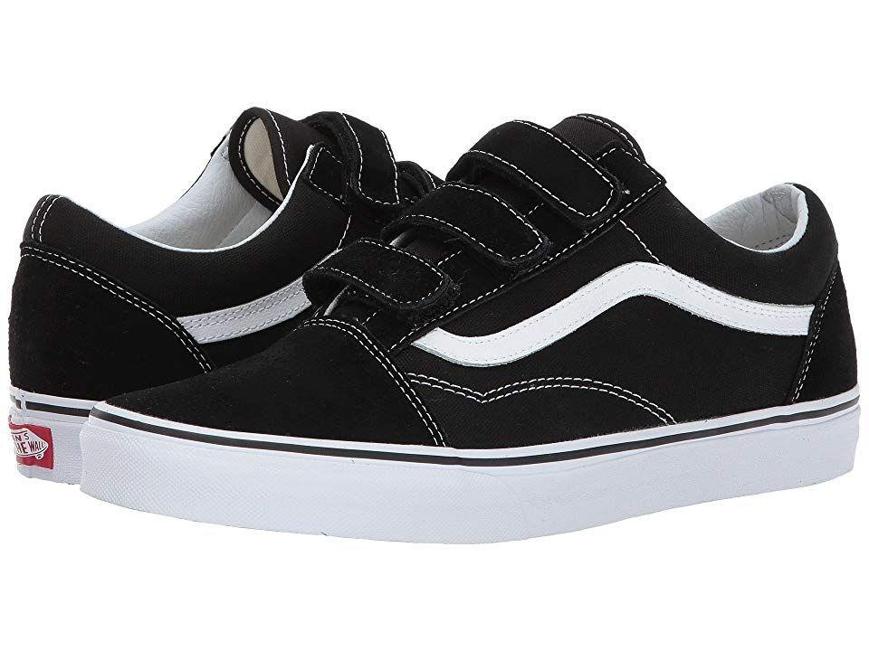 210a92538c7 Vans Old Skool V Men s Skate Shoes (Suede Canvas) Black True White ...