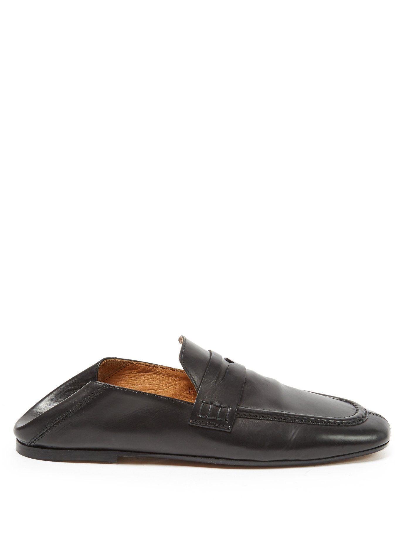 Isabel Marant Fanzel collapsible-heel leather loafers hw9PM