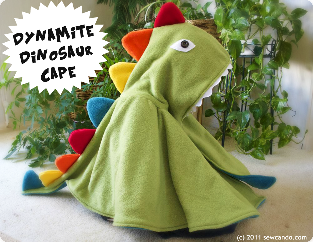 Sew Can Do Dynamite Dinosaur Cape Kids Costume Pattern Giveaway