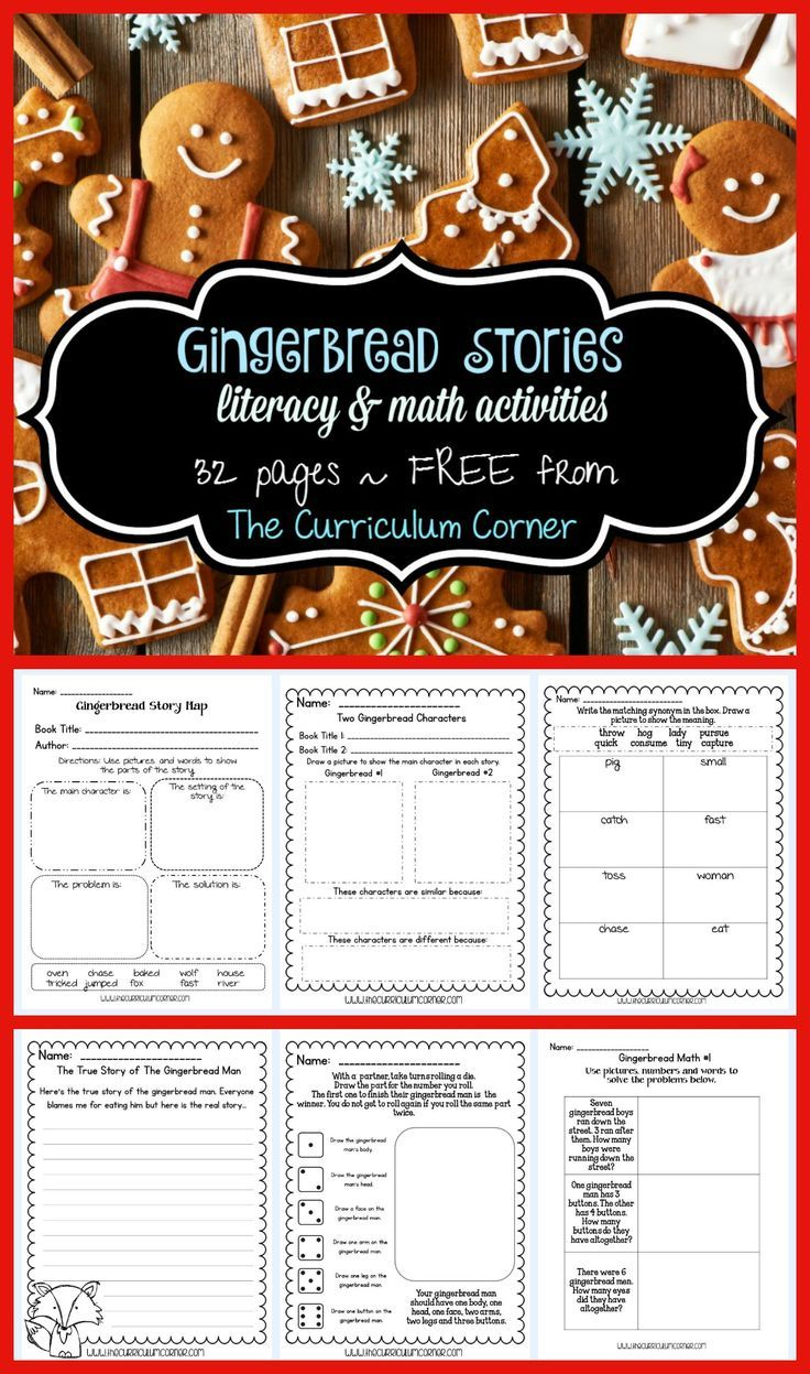 Gingerbread Stories Gingerbread man activities, Holiday