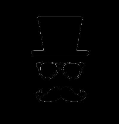 Chapeau lunette moustache pour carte d invitation moustache ... 04a03d4583bd