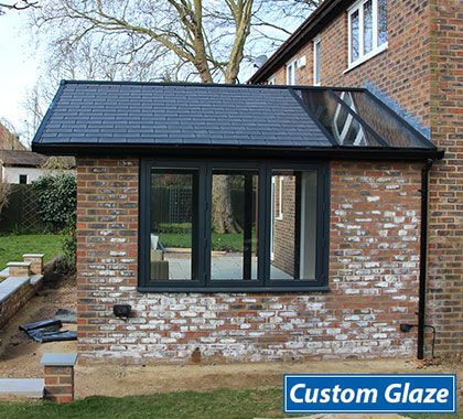 The Bi Folding Window Viewed From The Garden Is A Brilliant Addition As The Garden Room Becomes C House Extension Design Garden Room Extensions Room Extensions