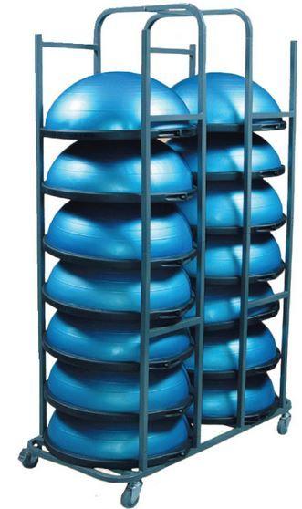 Bosu Balance Rack Easily Stores 14 Fully Inflated Bosu Exercise