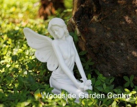 Marble Resin Sitting Fairy Garden Ornament | Woodside Garden Centre | Pots  To Inspire