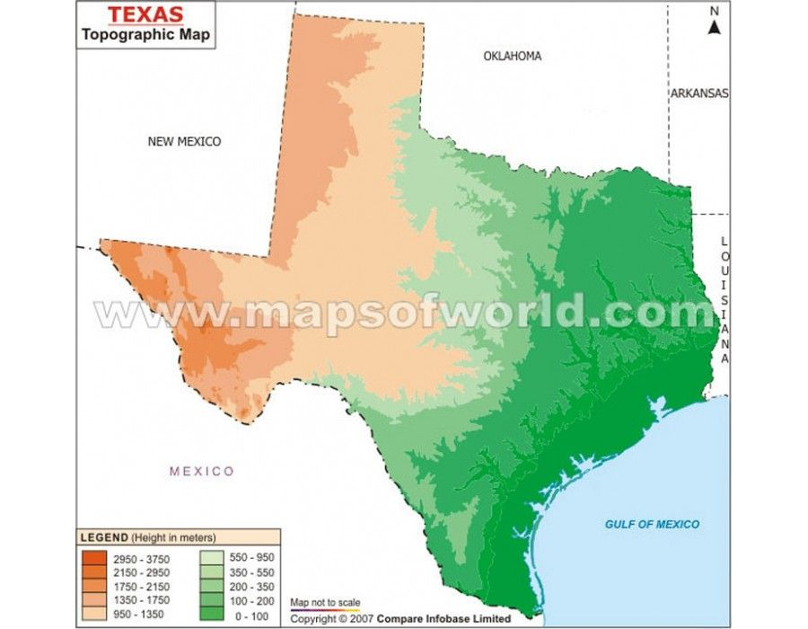 Topography Map Of Us.Buy Texas Topographic Map Online Us Maps Pinterest Map