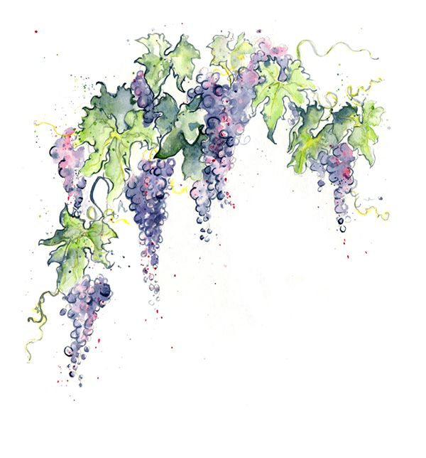 Glass Painting Grapes