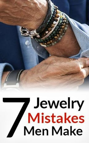 7 Jewelry Mistakes Men Make is part of Masculine jewelry, Mens jewelry, Mens accessories, Mens fashion trends, Mens fashion, Men - Many guys wear jewelry but do it incorrectly  The mistakes that men make when wearing jewelry can deter other guys from accessorizing  Men's jewelry will complement the outfit when worn correctly  A nice bracelet and watch combination will distinguish a one man from the next