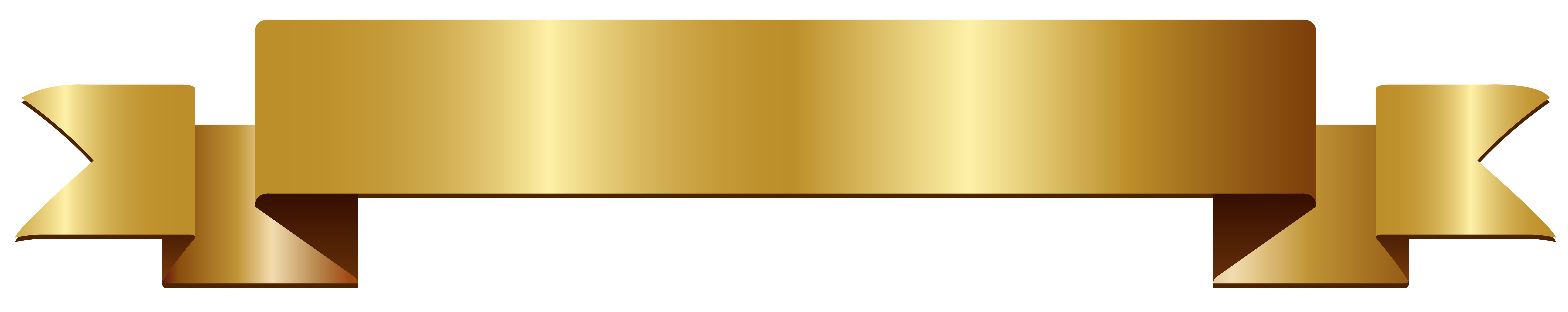 Gold Banner Transparent PNG Clip Art   Gallery Yopriceville - High ...