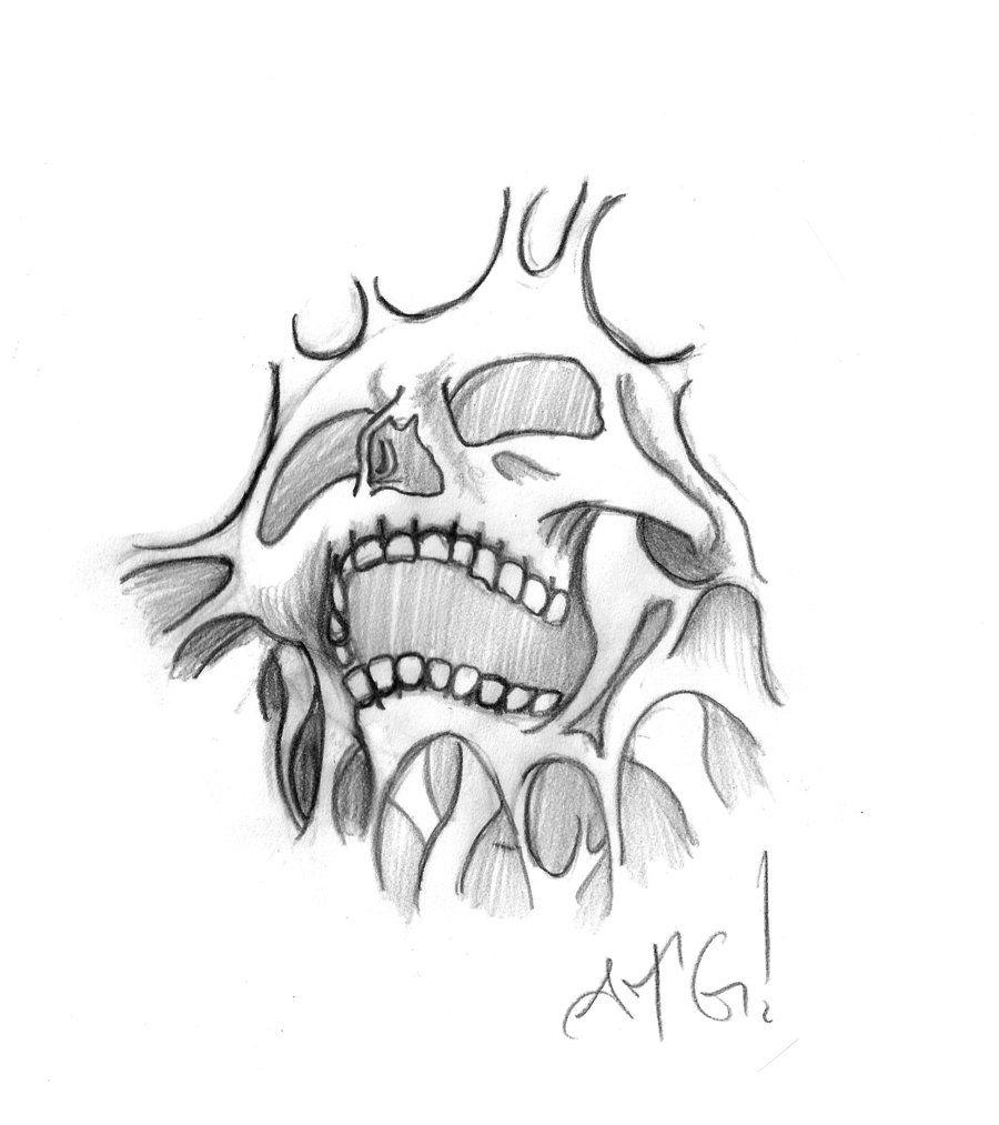 Easy Beginner Skull: Free Tattoo Designs To Print