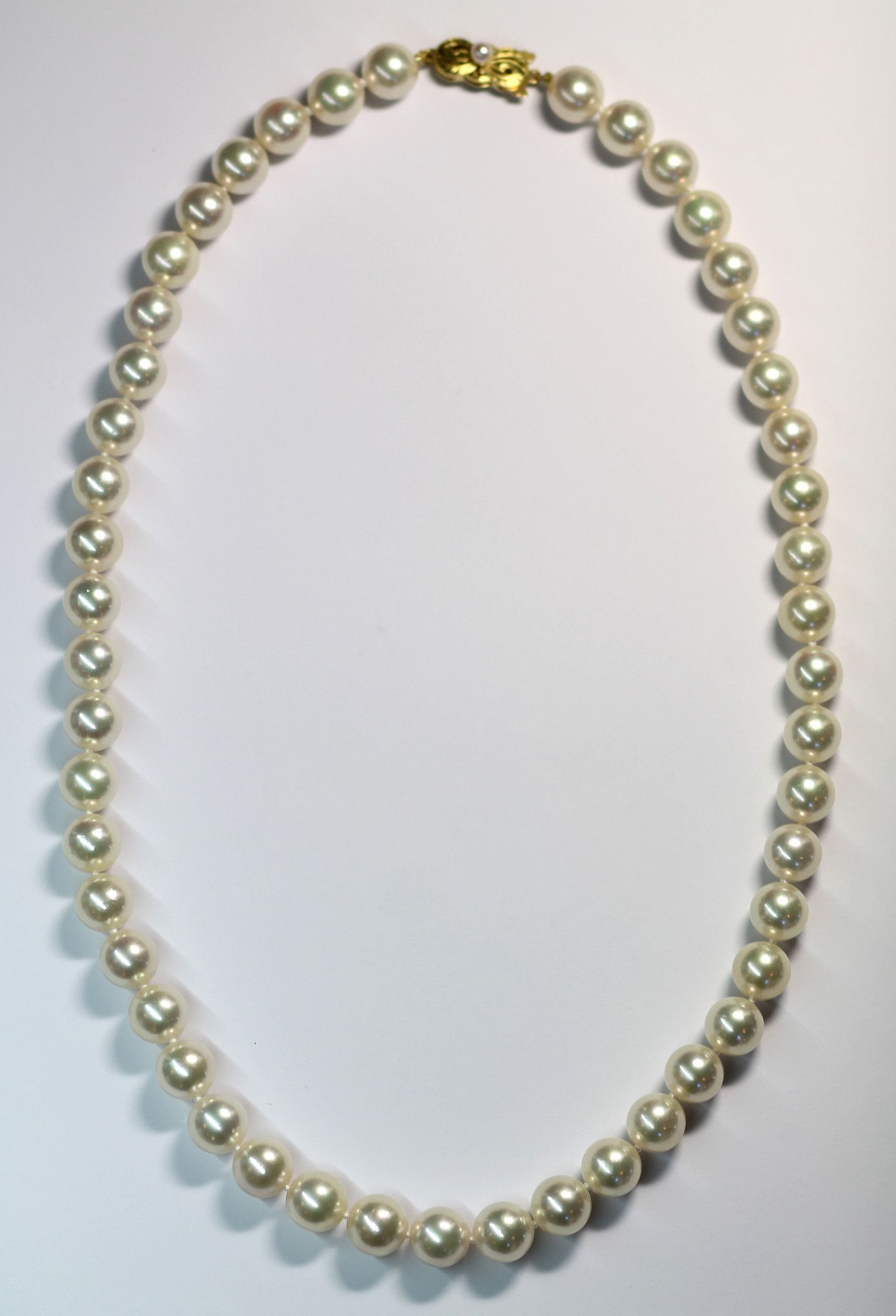 pearls pendant mikimoto gold and necklace chain i yellow
