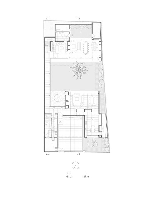Gallery Of De La Palmera House Prado Arquitectos 16 In 2020 Architecture House Floor Plans Courtyard House