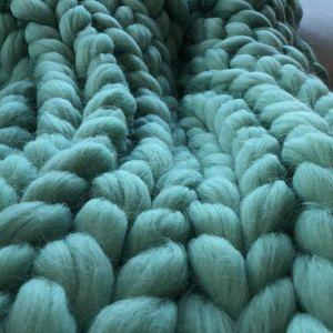 Chunky cotton yarn blanket