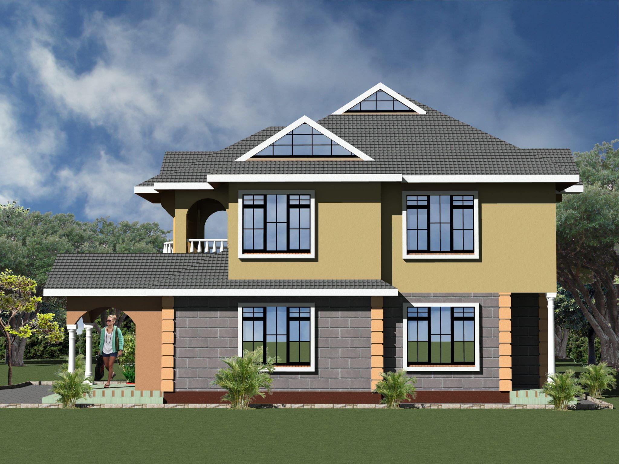4 Bedroom Design 1071 A House Plans Maisonette House