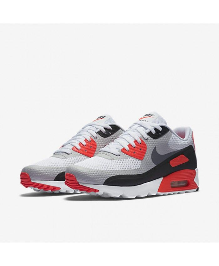 premium selection be2c3 2799e Nike Air Max 90 Ultra Essential Infrared Wolf Grey Black White Trainer