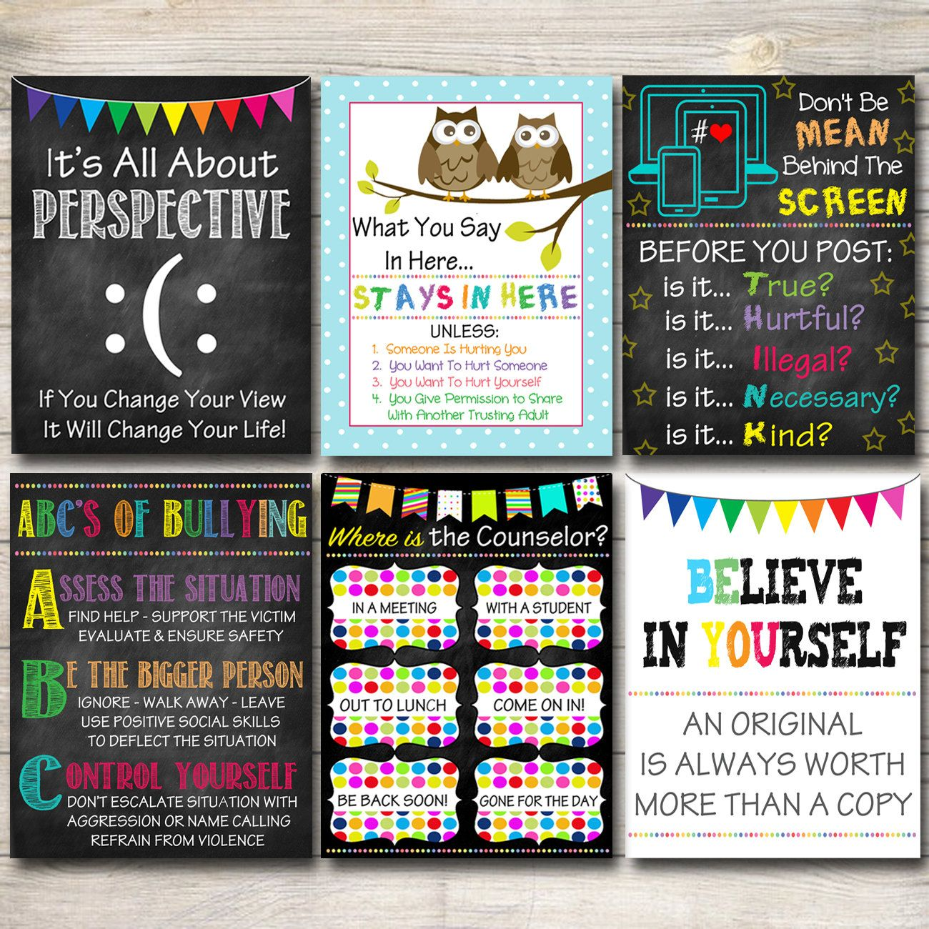 Counseling Office Decor School Counselor Posters Where Is The Counselor Door Sign