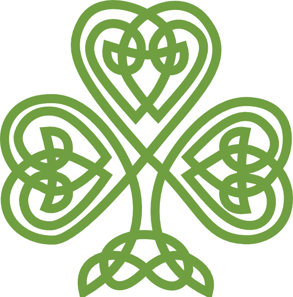 Irish Celtic Clover Art | Celtic Shamrock clip art - vector clip ...