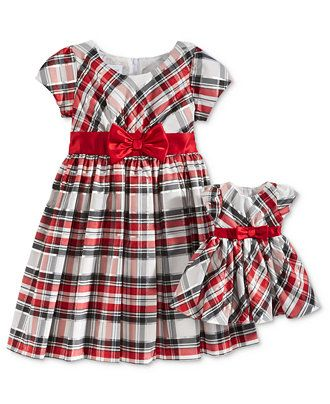 Bonnie Jean Sister Holiday Plaid Dresses, Toddler & Little (2T-6X), & Big Girls (7-16) - Toddler Girls (2T-5T) - Kids & Baby - Macy's