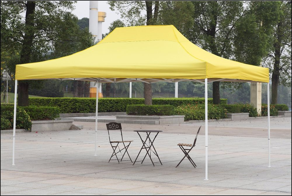 Outdoor Canopy Shelter Gazebo 10x15 Yellow Patio Backyard Shade